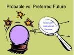 probable vs preferred future