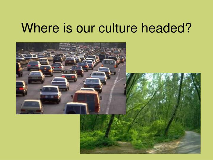 Where is our culture headed?