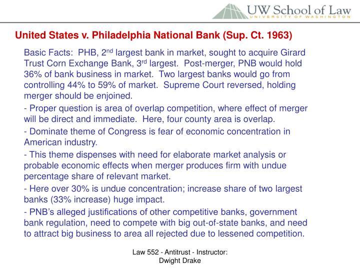 United States v. Philadelphia National Bank (Sup. Ct. 1963)