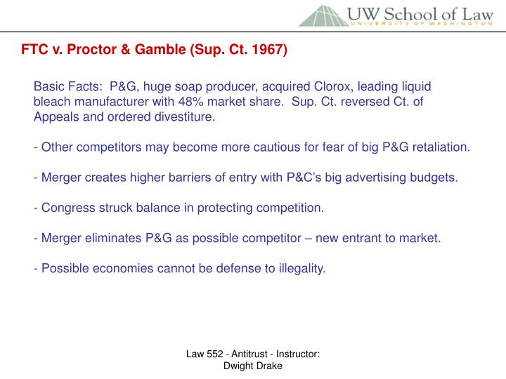 FTC v. Proctor & Gamble (Sup. Ct. 1967)