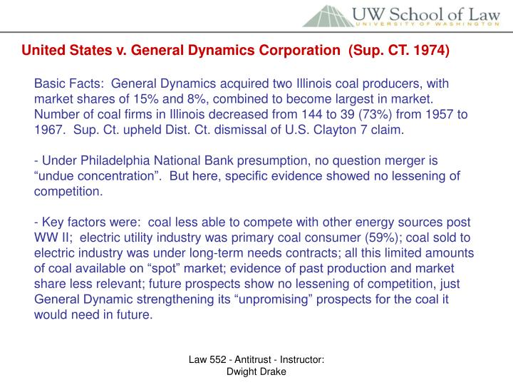 United States v. General Dynamics Corporation  (Sup. CT. 1974)