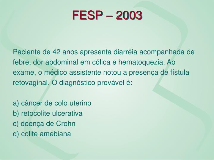 FESP – 2003