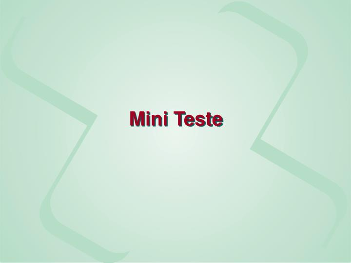 Mini Teste