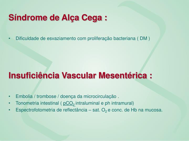 Síndrome de Alça Cega :