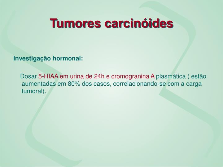Tumores carcinóides