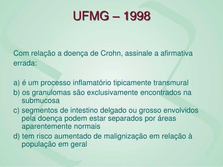 UFMG – 1998