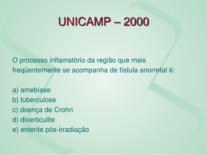 UNICAMP – 2000
