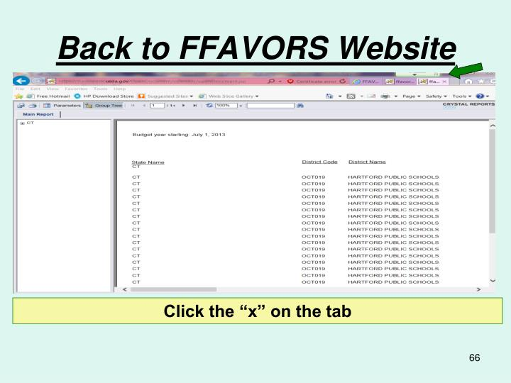 Back to FFAVORS Website