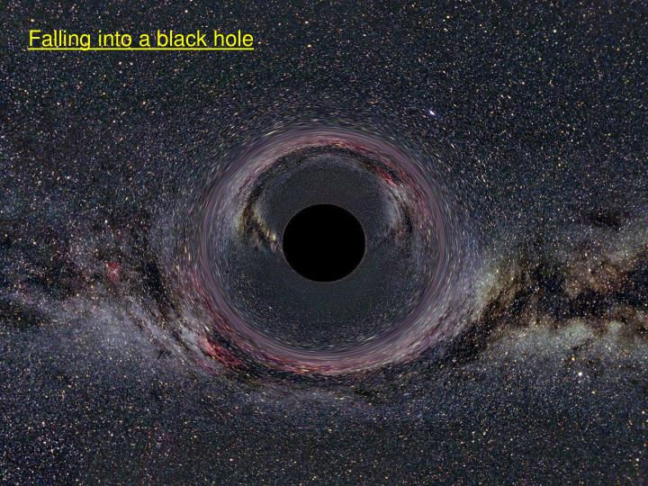 Falling into a black hole