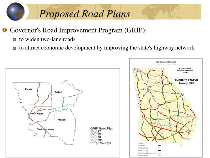 Proposed Road Plans