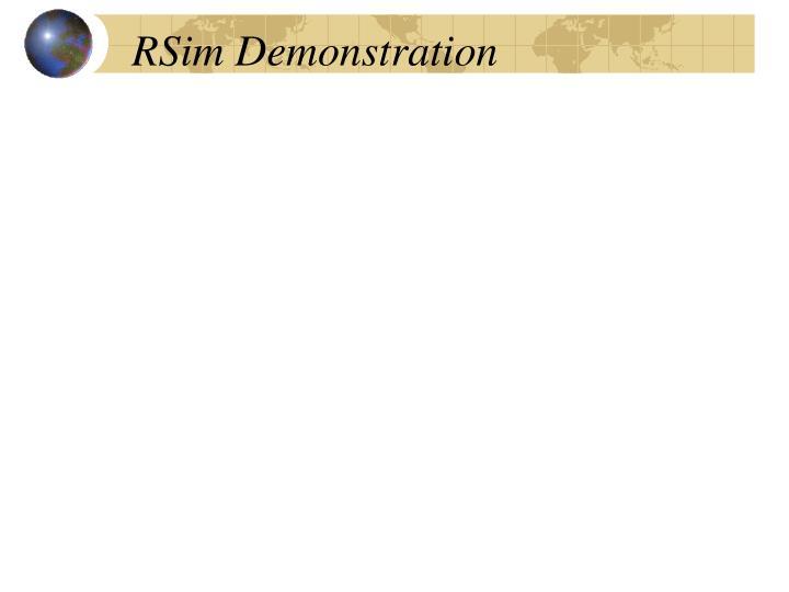 RSim Demonstration