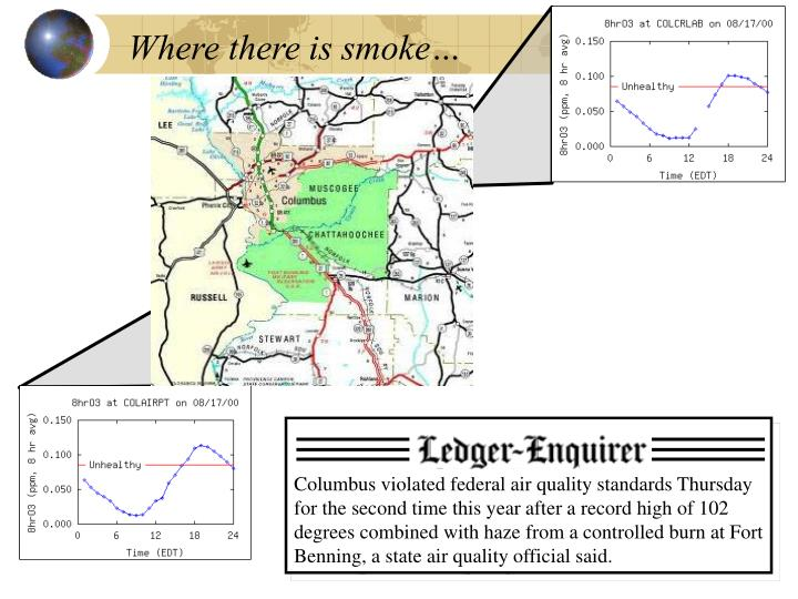 Where there is smoke…