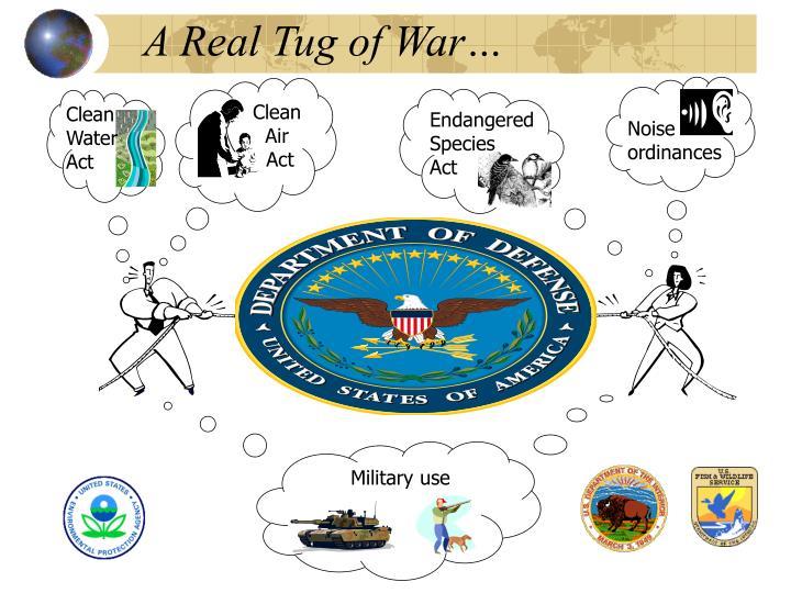 A Real Tug of War…