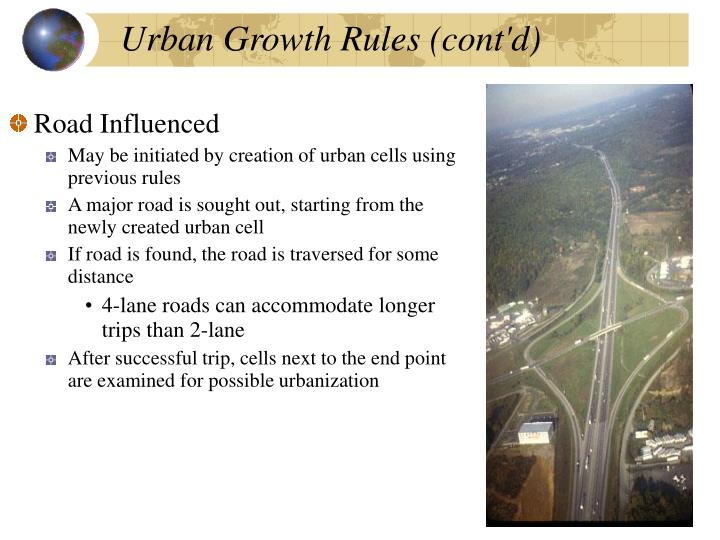 Urban Growth Rules (cont'd)