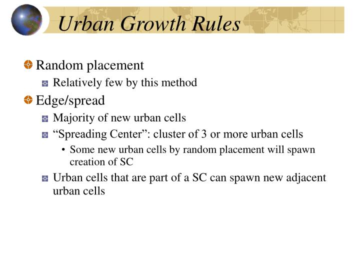 Urban Growth Rules