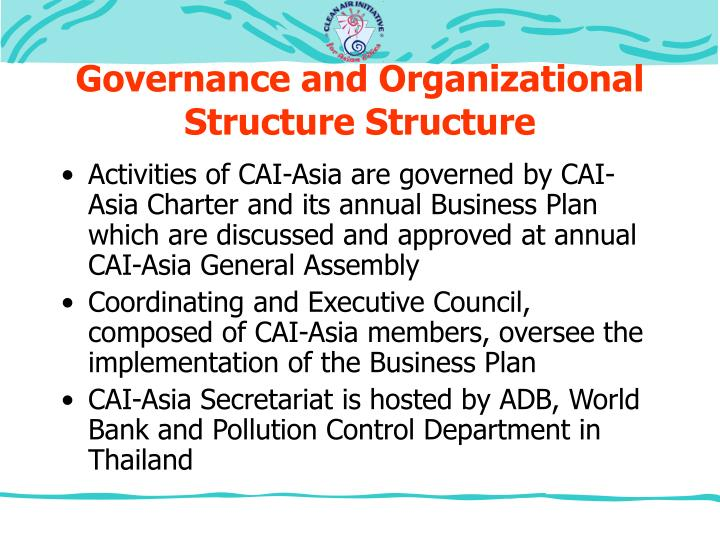 Governance and Organizational Structure Structure