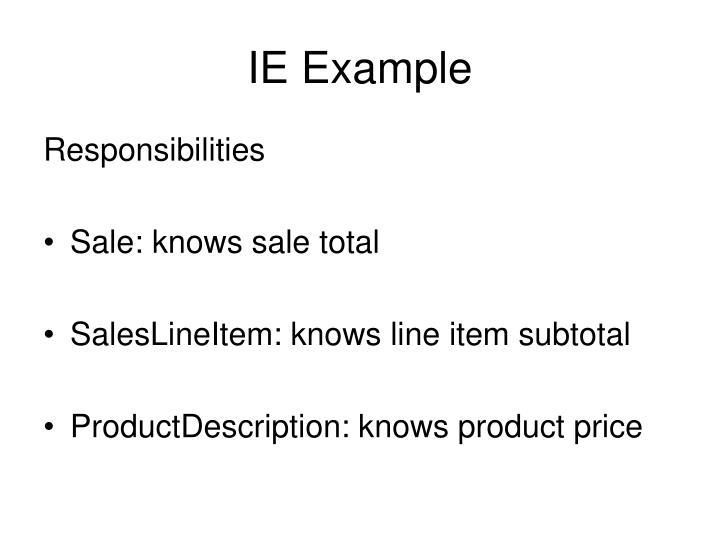 IE Example