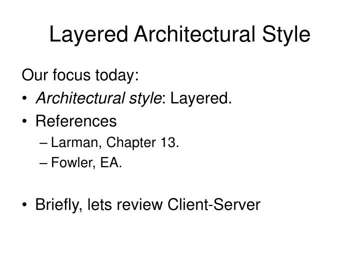 Layered Architectural Style