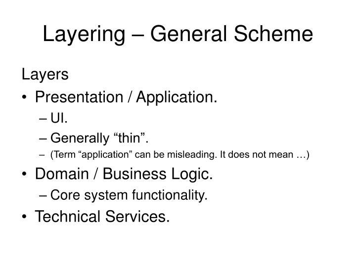 Layering – General Scheme