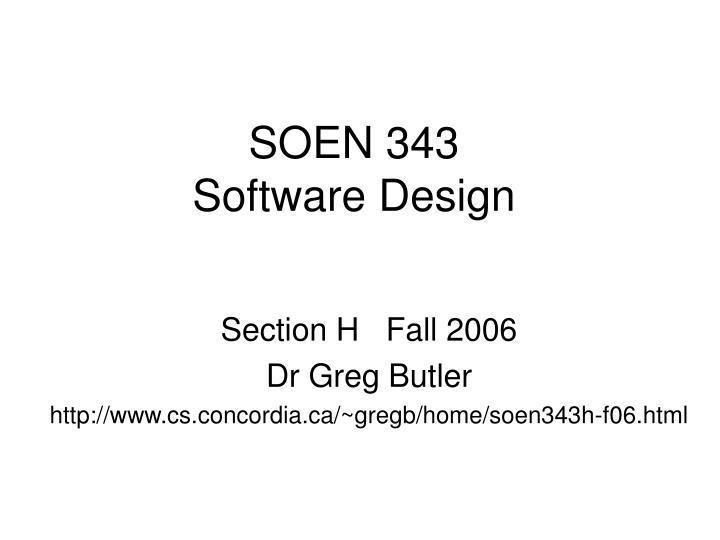SOEN 343