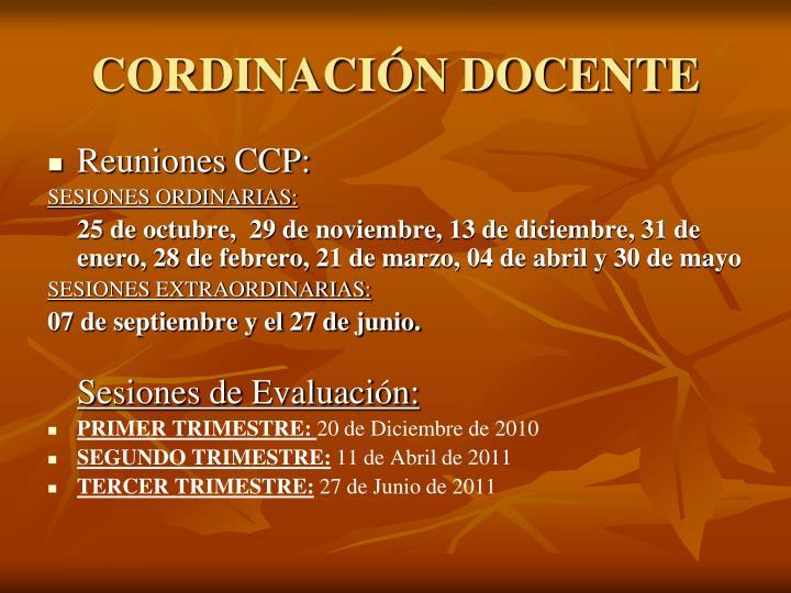 CORDINACIÓN DOCENTE