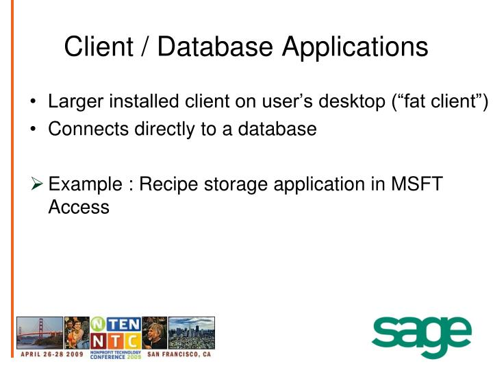 Client / Database Applications