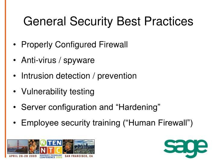 General Security Best Practices