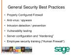 general security best practices