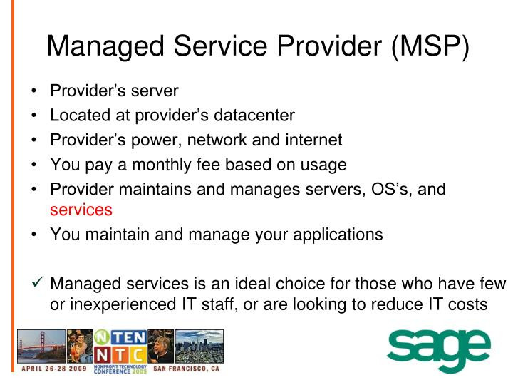 Managed Service Provider (MSP)