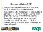 sarbanes oxley sox