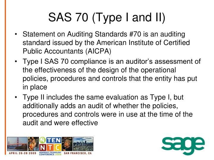 SAS 70 (Type I and II)