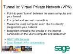 tunnel in virtual private network vpn