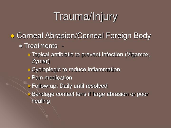 Trauma/Injury
