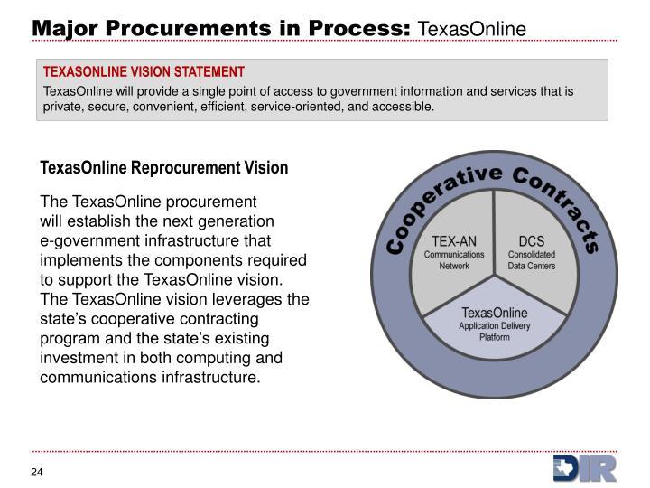 TexasOnline Reprocurement Vision