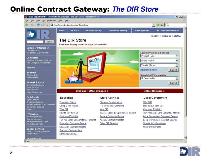 Online Contract Gateway: