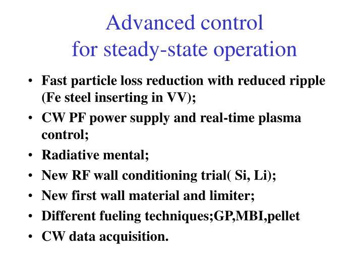 Advanced control