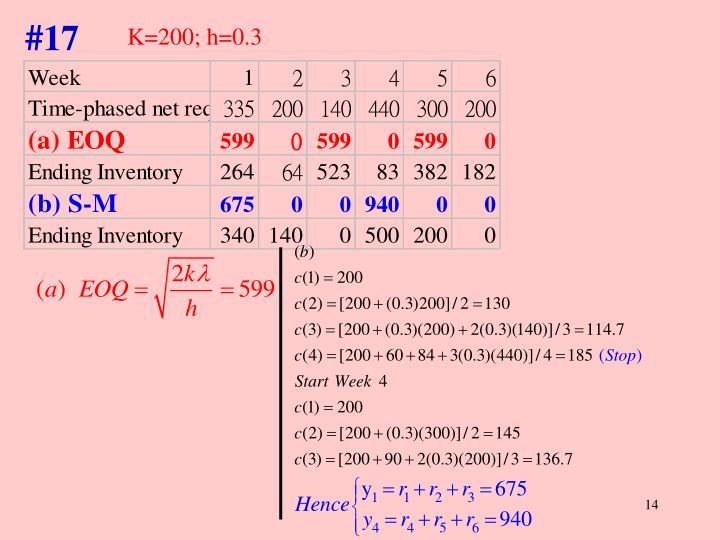 K=200; h=0.3