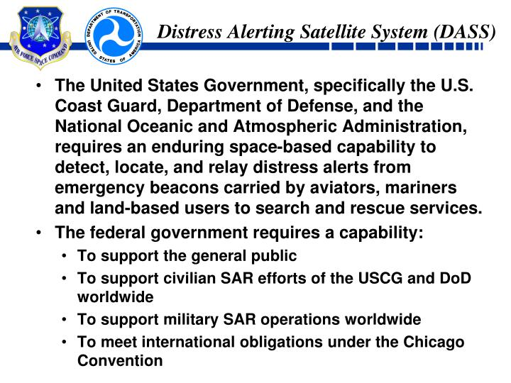 Distress Alerting Satellite System (DASS)