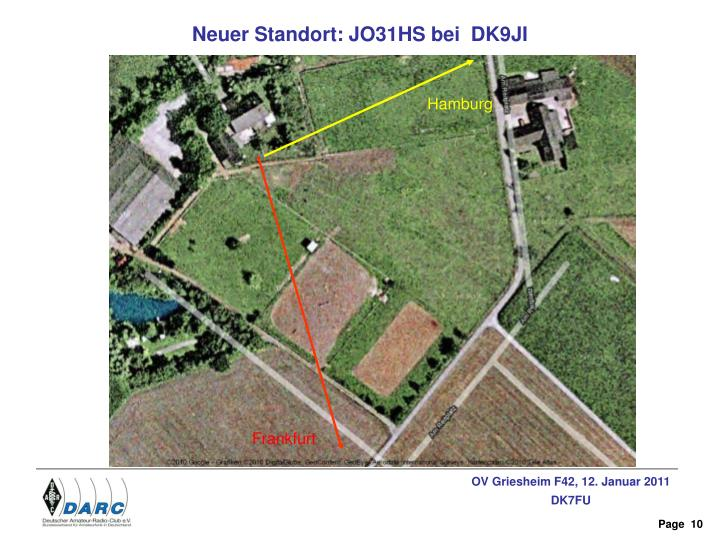Neuer Standort: JO31HS bei  DK9JI