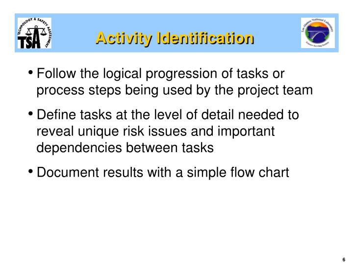 Activity Identification