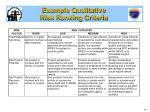 example qualitative risk ranking criteria1