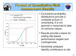 format of quantitative risk assessment results