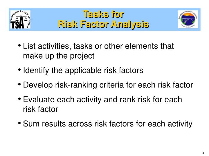Tasks for