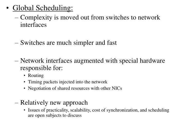 Global Scheduling:
