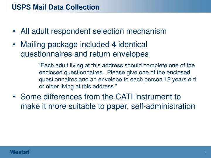 USPS Mail Data Collection