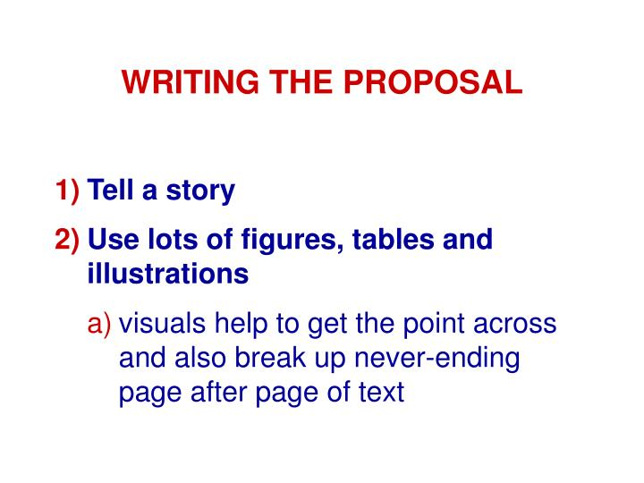 WRITING THE PROPOSAL