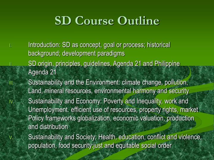 SD Course Outline