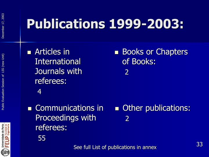 Articles in International Journals with referees: