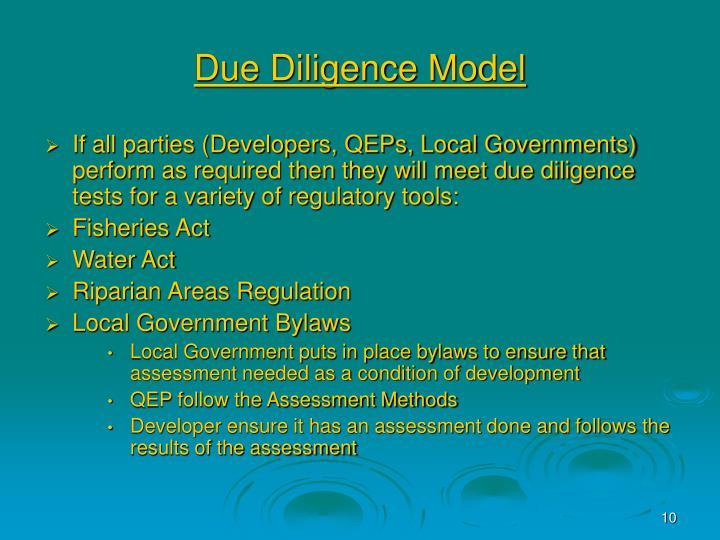 Due Diligence Model