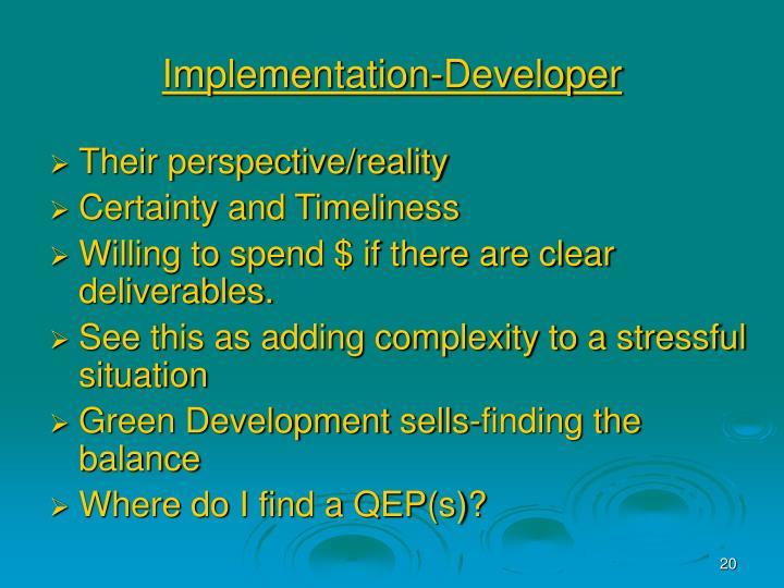 Implementation-Developer